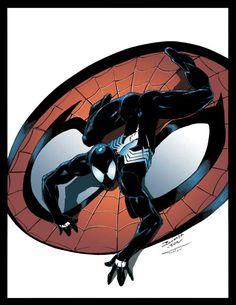 Pencils: ------ Brett Booth Colors: ------- Me Spidey Black Spiderman Black Suit, Black Spiderman, Amazing Spiderman, Marvel Art, Marvel Heroes, Cartoon As Anime, Dc Comics Superheroes, Marvel Comic Character, Spider Verse