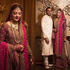 #MahnoorAmin wearing a breathtaking custom made #FarahTalibAziz bridal on her wedding day ✨ #bridal #weddings #pakistan #beautifulbride #traditional @farahtalibazizdh