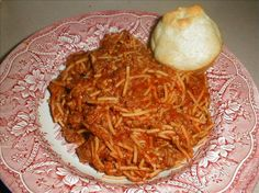 Crock Pot Spaghetti: this recipe has been around for awhile- very good, very frugal and very easy