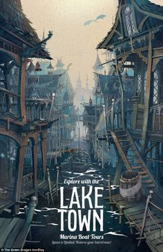 Visit Middle-Earth for a spot of golf and Winterfell for some ancient sight-seeing: Artist turns famous fantasy locations into 1920s-style travel posters
