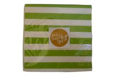 Lime Green Striped Napkins