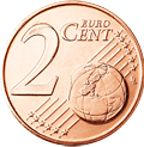 2 Euro Cent Coin (Common Side)
