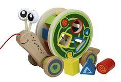 Hape - Walk-A-Long Snail Wooden Pull Toy Hape https://www.amazon.com/dp/B00DQRV990/ref=cm_sw_r_pi_awdb_x_gXzoybFGSC7DM