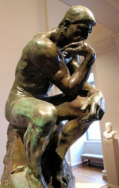 Auguste Rodin - The Thinker (Le Penseur) at National Art Gallery Washington DC   Flickr - Photo Sharing!