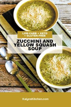 Recipe For Yellow Squash And Zucchini, Yellow Squash Soup, Best Soup Recipes, Vegan Recipes, Cooking Recipes, Meatless Recipes, Keto Soup, Game Day Food, Low Carb Keto