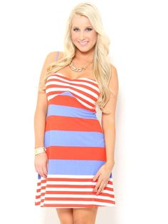 Sweetheart #Stripe Knit #Dress