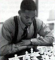 Actor Will Smith and chess board, photo by Robert Snyder