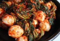 (Chonggak) Ponytail kimchi. Making this today! It's called bachelor Kim Chi because the radish resemble the ponytails unmarried Korean men used to wear. Crunchy and good and you use the greens too!