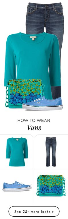 """""""Untitled #13392"""" by nanette-253 on Polyvore featuring Silver Jeans Co., Burberry, Nancy Gonzalez and Vans"""