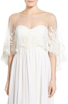 Bridal capelet by Jenny Yoo from @nordstrom