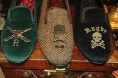 Rugby Velvet Slippers, by Ralph Lauren, Men's Fall Winter Fashion. Velvet Slippers, Mens Slippers, Men's Shoes, Dress Shoes, Ivy Style, Men's Style, Branding, Preppy Style, Preppy Men