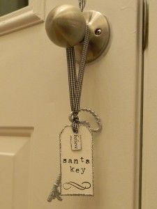 If you don't have a fireplace why not make a special Key for Santa to use on the big night and hang it by the front door?