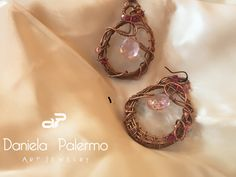 #fashion #art #wirewrapping #danielartjewelry #earrings