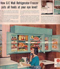 1950s Kitchen, Vintage Kitchen, Vintage Advertisements, Vintage Ads, Vintage Tile, Vintage Food, Vintage Photos, Vintage Appliances, Home Appliances