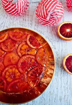 Upside Down Blood Orange Cake @ Not Quite Nigella