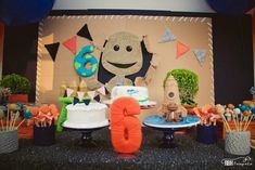 Little Big Planet Birthday Party Supplies 6th Birthday Parties, 9th Birthday, Birthday Ideas, Little Big Planet, Party Time, Party Supplies, Planets, Birthdays, Party Ideas
