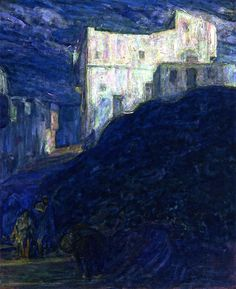Algiers (also known as Old Buildings near Ka-hak) Henry Ossawa Tanner - circa 1912 Private collection Painting - oil on canvas Height: cm in.), Width: cm in. African American Artist, American Artists, Whistler, Nocturne, Henry Ossawa Tanner, Philadelphia Zoo, Art Database, Mountain Landscape, House Painting