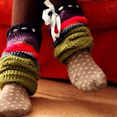 Big Crochet Leg Warmers -since I am trying to cutting back on heat, I need these!