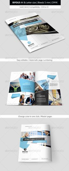 Corporate Indesign Bifold Brochure Template