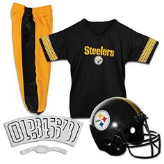 Franklin Sports NFL Pittsburgh Steelers Deluxe Youth Uniform Set Medium *** Visit the image link more details. Note:It is affiliate link to Amazon.
