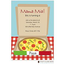Party Invitation: It's a classic. This Mama Mia party invitation features everyone's favorite party fare: PIZZA! Pizza Party Birthday, Birthday Party Themes, Birthday Ideas, 4th Birthday, Italian Party, Party Time, Party Party, Party Invitations, Pizza Chef