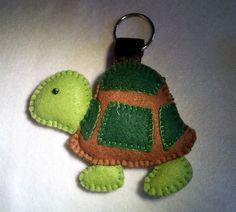 La Girandola Creativa: Portachiavi tartarughina in Feltro