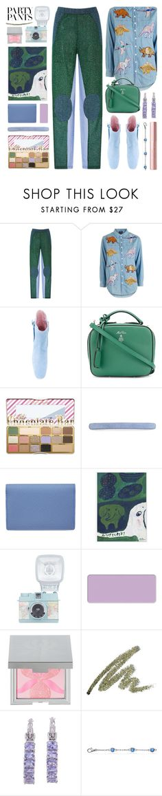 """""""#PolyPresents: Fancy Pants"""" by foundlostme ❤ liked on Polyvore featuring Carven, Topshop, Dorateymur, Mark Cross, Too Faced Cosmetics, L. Erickson, Smythson, shu uemura, Sisley and NOVICA"""