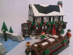 Winter Village Pub CUSTOM INSTRUCTIONS ONLY for LEGO Bricks (Christmas)