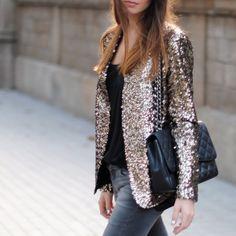 Jaqueta de Paetês #looks #fashionlooks #streetstyle
