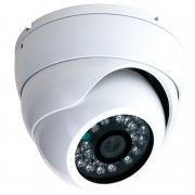 Professionel IR Dome kamera, 700 TVL, Hvid