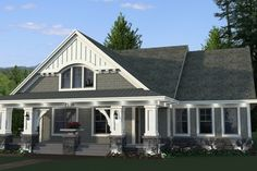 House Plan 51-514, 1 story (2nd story bonus room), 1866 sq. ft., 3 or 4 bedrooms