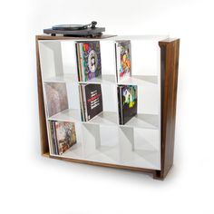 Ryan's awesome vinyl record storage solution. I love this.
