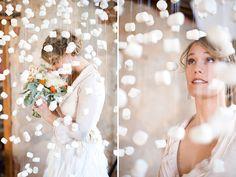 Новое вдохновение для зимних свадеб: маршмэллоу, шерстяные нити, хлопок