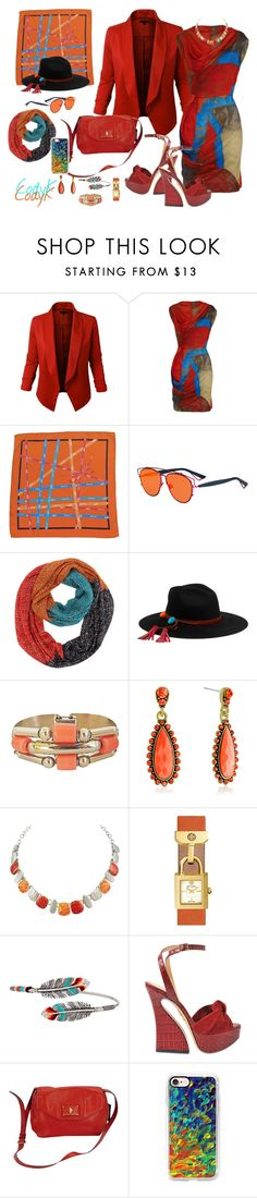 """""""Orange, Blue, Beige"""" by cody-k ❤ liked on Polyvore featuring Vivienne Westwood Anglomania, Hermès, Christian Dior, Sensi Studio, Tory Burch, Gas Bijoux, Charlotte Olympia, Marc Jacobs and Casetify"""