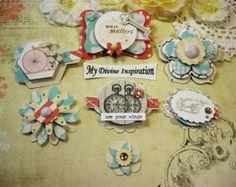 Ces embellissements fait main uniques sont parfaits pour vos pages de scrapbook, livre et boîte de décoration, albums de cartes faisant,