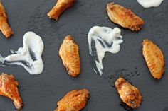 Skinny Buffalo Wings with Buttermilk Blue Cheese Dip Adapted from ...