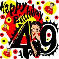 Betty Boop Happy 49th Birthday, Happy 49th Birthday Betty Boop Birthday, Celebrations, Holidays, Happy, Holidays Events, Holiday, Ser Feliz, Vacation, Annual Leave