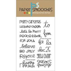 Paper Smooches 4 X6 Clear Stamps - Christmas Sampler