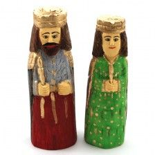 King and Queen / polish folk statues / folk art