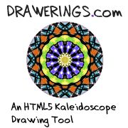 Create and share Kaleidoscope HTML5 drawings online, it's easy and fun! With our HTML5 drawing tool, everyone's an artist!