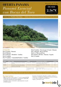 Panamá Esencial con Bocas del Toro. 11 días desde 2567€ tax incl.del 2 de Sep al 16 de Dic - http://zocotours.com/panama-esencial-con-bocas-del-toro-11-dias-desde-2567e-tax-incl-del-2-de-sep-al-16-de-dic/