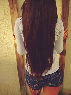 long brown hairstyle! love this straight hair!