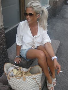 Nice hair and outfit.... loose the cigarette!                                                                                                                                                                                 More