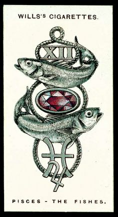Cigarette Card - Pisces, The Fishes