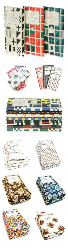 Mast Brothers Chocolate collectible patterned wrappers - buy the chocolate for the pretty paper