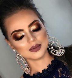 Sexy Makeup, Love Makeup, Makeup Inspo, Beauty Makeup, Hair Makeup, Gold Eyeshadow Looks, Arabian Makeup, Kylie Lipstick, Awesome Makeup