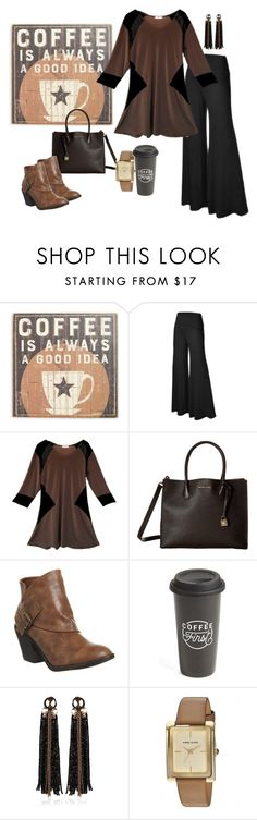 """""""Taupe and black"""" by jill-alexander-designs-official on Polyvore featuring Primitives By Kathy, MICHAEL Michael Kors, Blowfish, The Created Co., Begada and Anne Klein"""