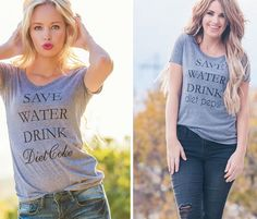 Because these Tee's never get old and I can't live without my Diet Coke ! Only $14.99 with 5 different styles to choose from!!
