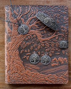 Tree of Life iPad cover with Tree Jewelry and Hairclip