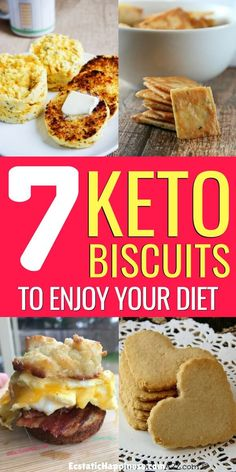 Looking for delicious biscuits without the carbs? These low carb biscuits, also known as keto biscuits, will make sure you never miss wheat flour again. Healthy Low Carb Snacks, Low Carb Desserts, Keto Snacks, Healthy Food, Low Carb Biscuit, Low Carb Bread, Low Carb Keto, Best Low Carb Recipes, Low Sugar Recipes